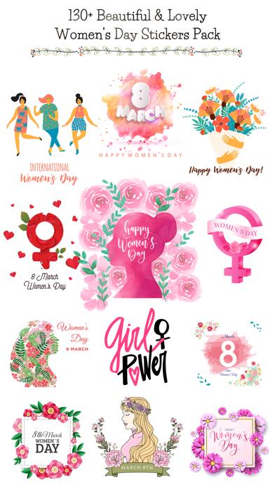 Happy Women's Day Stickers Set screenshot 1