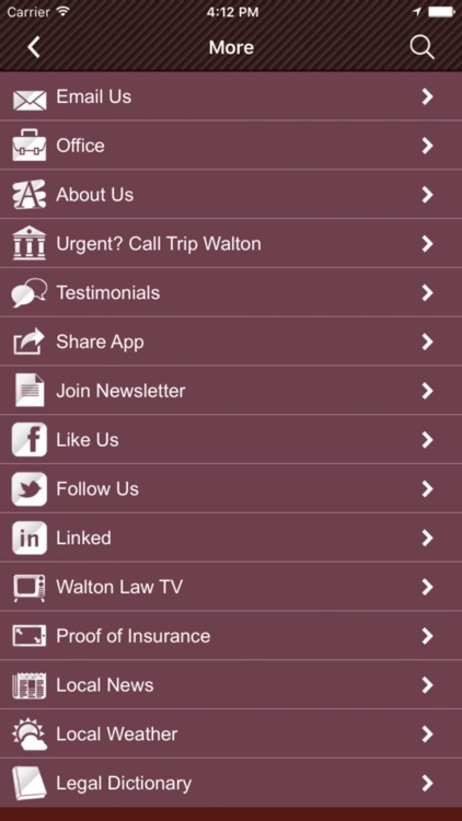 Walton Law Firm App