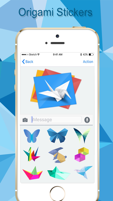 Origami Stickers Pack! screenshot three