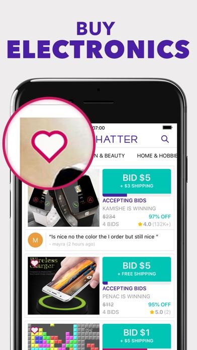 Tophatter review screenshots