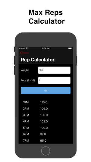 Barbell Loader and Calculator Screenshot
