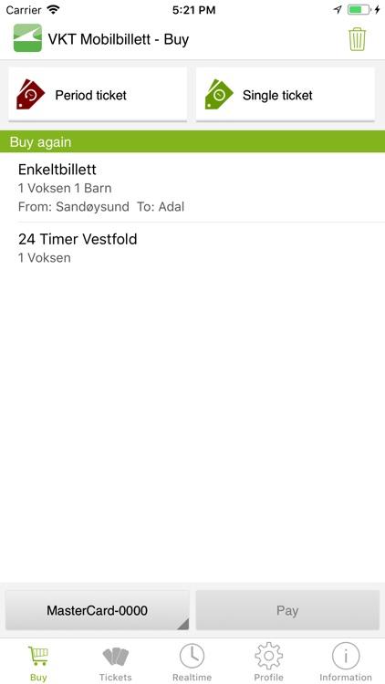 VKT Billett screenshot-0