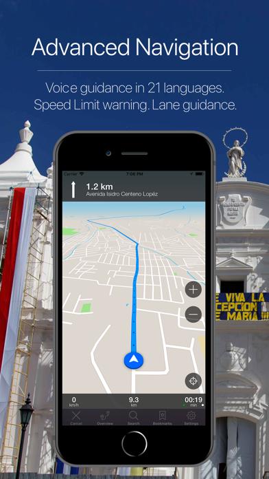 Nicaragua Offline Navigation Screenshot