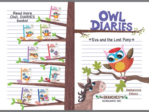 Eva And The Lost Pony A Branches Book Owl Diaries 8 By Rebecca