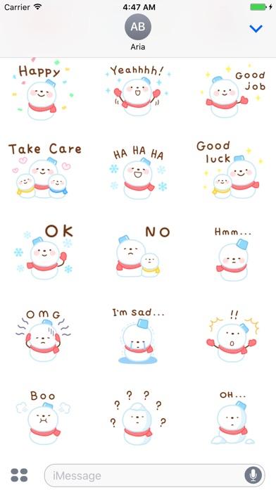 Cute Snowman Emoji Sticker screenshot 4