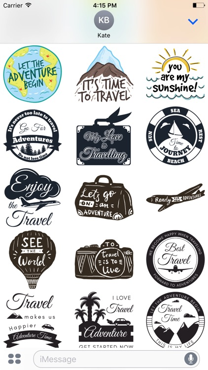 Let's go Travel - Sticker Pack for iMessage screenshot-2