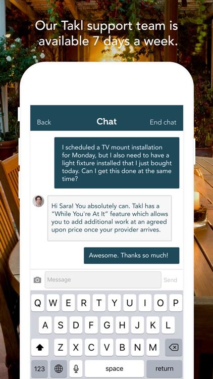 Takl - On demand home services screenshot-3