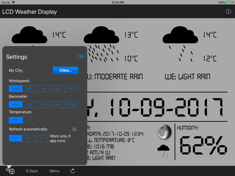 LCD Weather Display
