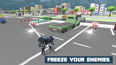 Snow Robot War: Freezing Power screenshot 3