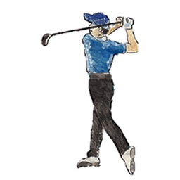 Watercolor Golf Sticker