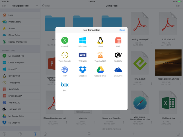 fileexplorer pro for apple tv how to delete created connections