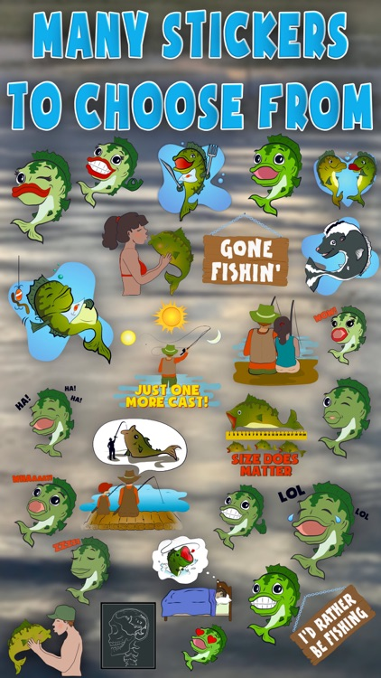 Bass Fishing Emoji Stickers screenshot-4
