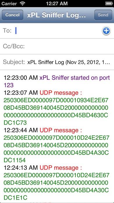 xPL Sniffer screenshot three