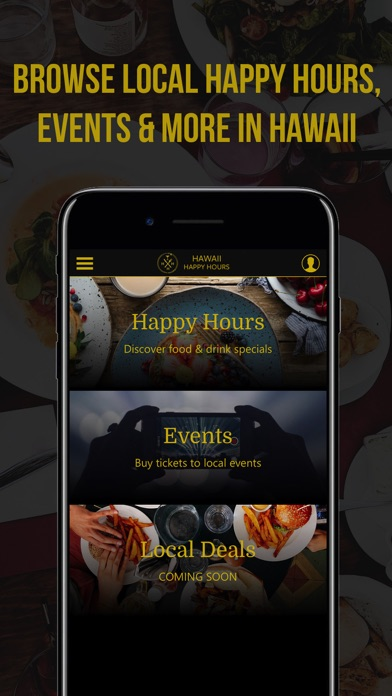 Image of Hawaii Happy Hours for iPhone