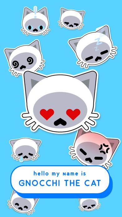 Gnocchi Animated Cat Stickers screenshot one