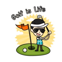 Golf is Life Golfmoji Sticker