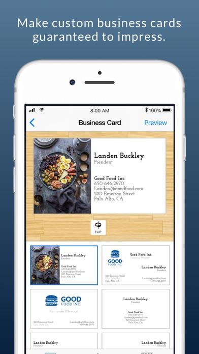 Business card maker logo app revenue download estimates app iphone ipad reheart Image collections