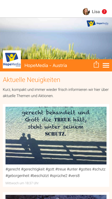 HopeMedia - Austria screenshot 1