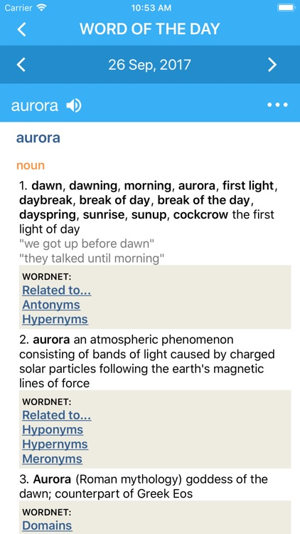 Advanced Dictionary&Thesaurus screenshot-1