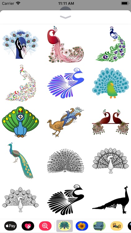 Pretty Peacock Stickers