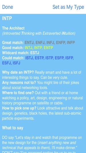 Enfp dating matches over 50