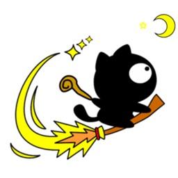 Cute Wizard Black Cat Sticker