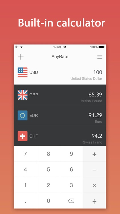 AnyRate Pro - Currency Rates screenshot-0