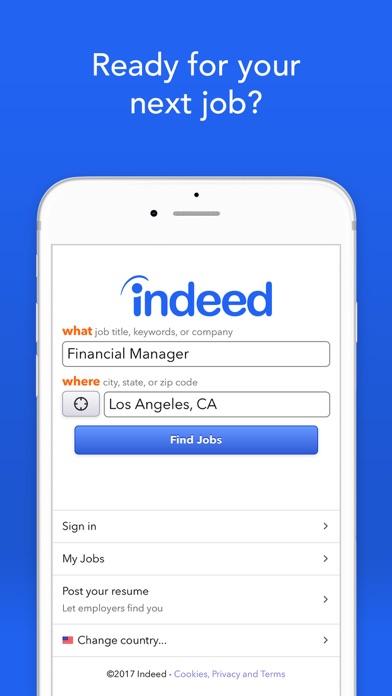 Screenshot 0 for Indeed's iPhone app'