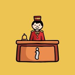 HotelMoji - Hotel Stay Sticker