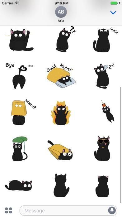 Animated Lovely Black Cat screenshot 2