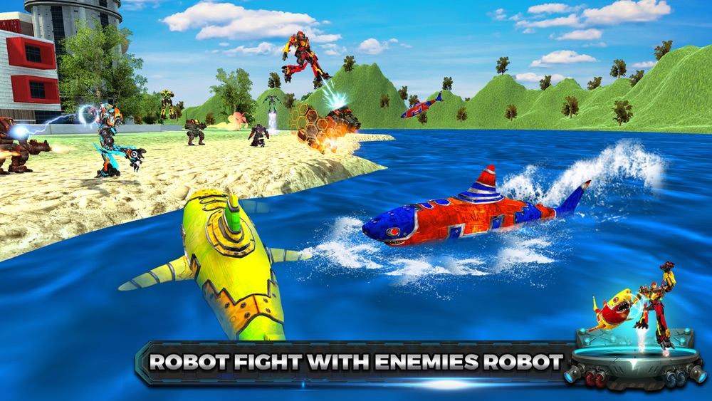 Shark Robot Transform war Hero hack tool