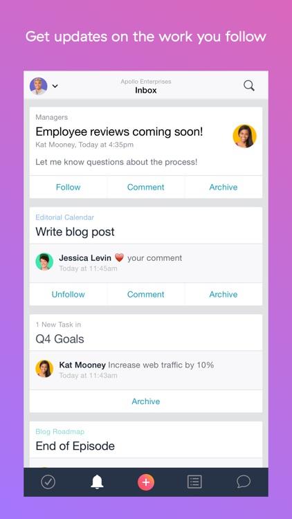 Asana: organize tasks & work