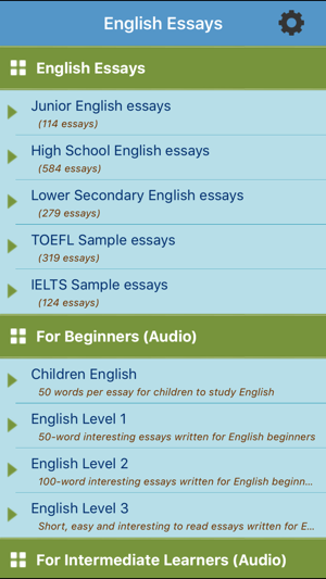 An Essay On Teachers Screenshots Cause And Effect Essay Structure also An Essay On Leadership Learn English Essays On The App Store Essay Faith