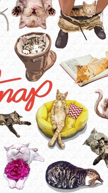 CatNap 1: Sleepy Cat Stickers