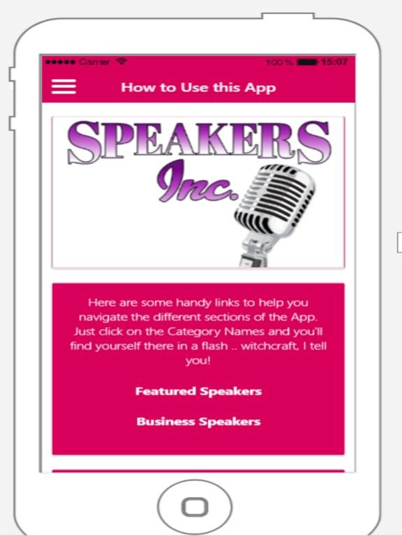 iPad Image of Speakers Inc