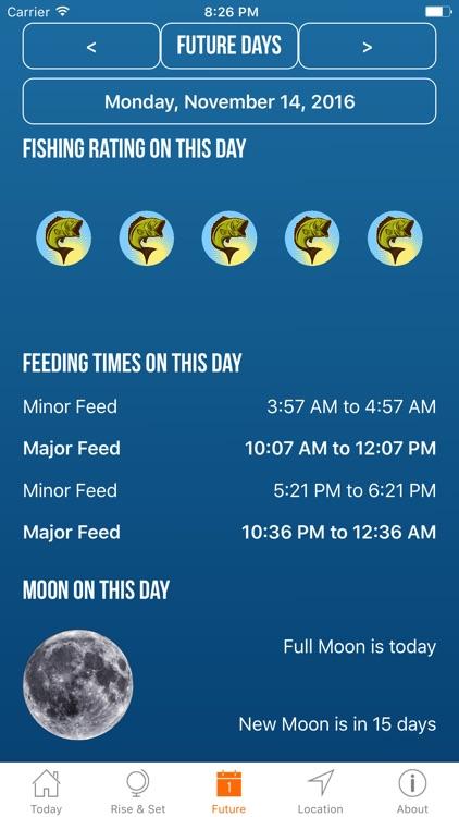 Solunar Best Fishing Times screenshot-3
