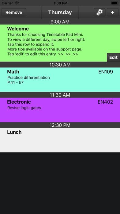 Timetable Pad Mini