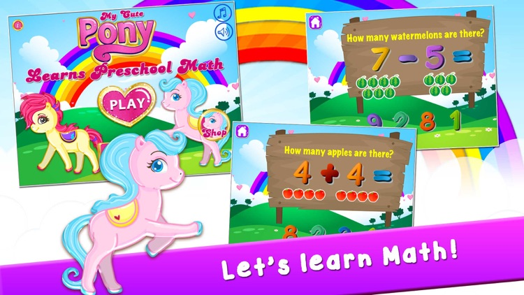 My Pony Play Math Games