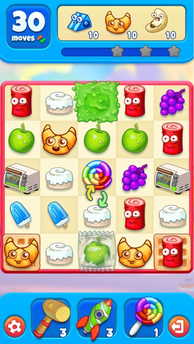 Sugar Heroes - World match 3! Screenshot on iOS