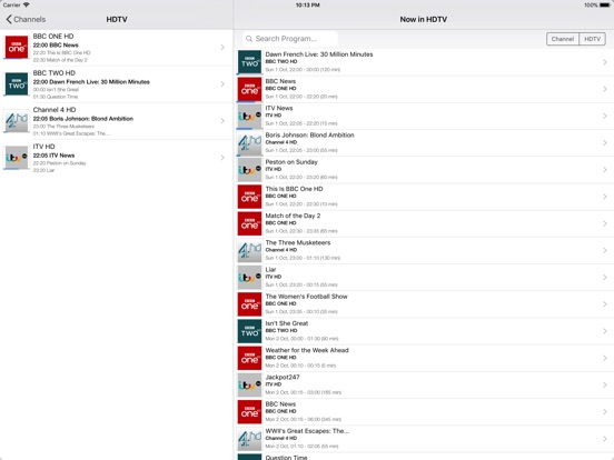 Screenshots for TvhClient