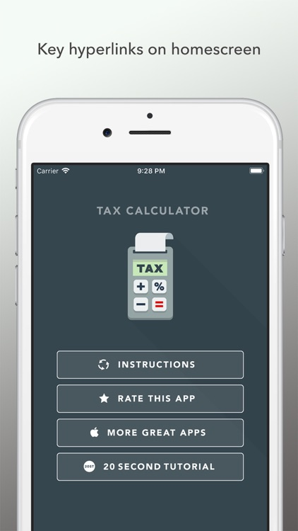 Tax Calculator 2018
