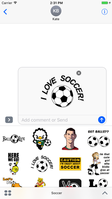 Amazing Soccer Stickers