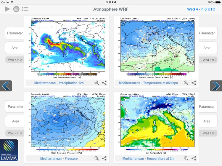 Atmosphere WRF for iPad