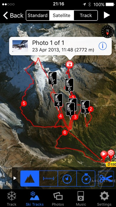 Screenshot for Ski Tracks in Sweden App Store
