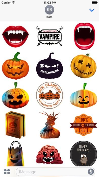 Halloween - Realistic Elements + Badge + Quotes screenshot 3