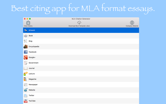 mla citation generator on the mac app store screenshots