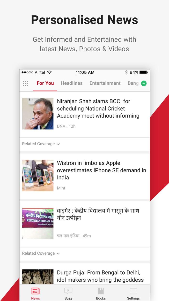 Dailyhunt (Formerly NewsHunt) Screenshot