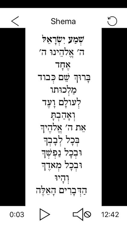 Pray in Hebrew Shema