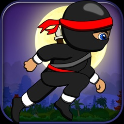 Baby Ninja Runs Behind Temple