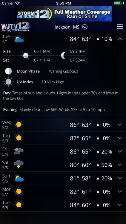 WJTV Weather screenshot-4